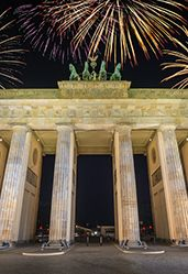 Silvester in Berlin am Brandenburger Tor